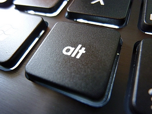 Picture of the Alt key on a keyboard